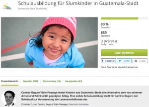 True Fabrics Spendenprojekt in Guatemala