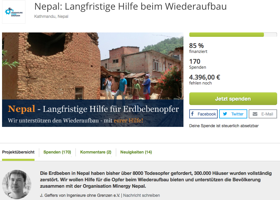 True Fabrics Spendenprojekt in Nepal
