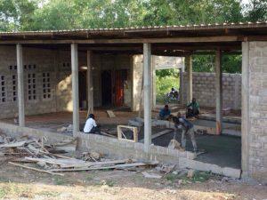 Batikstoff Produktion in Togo