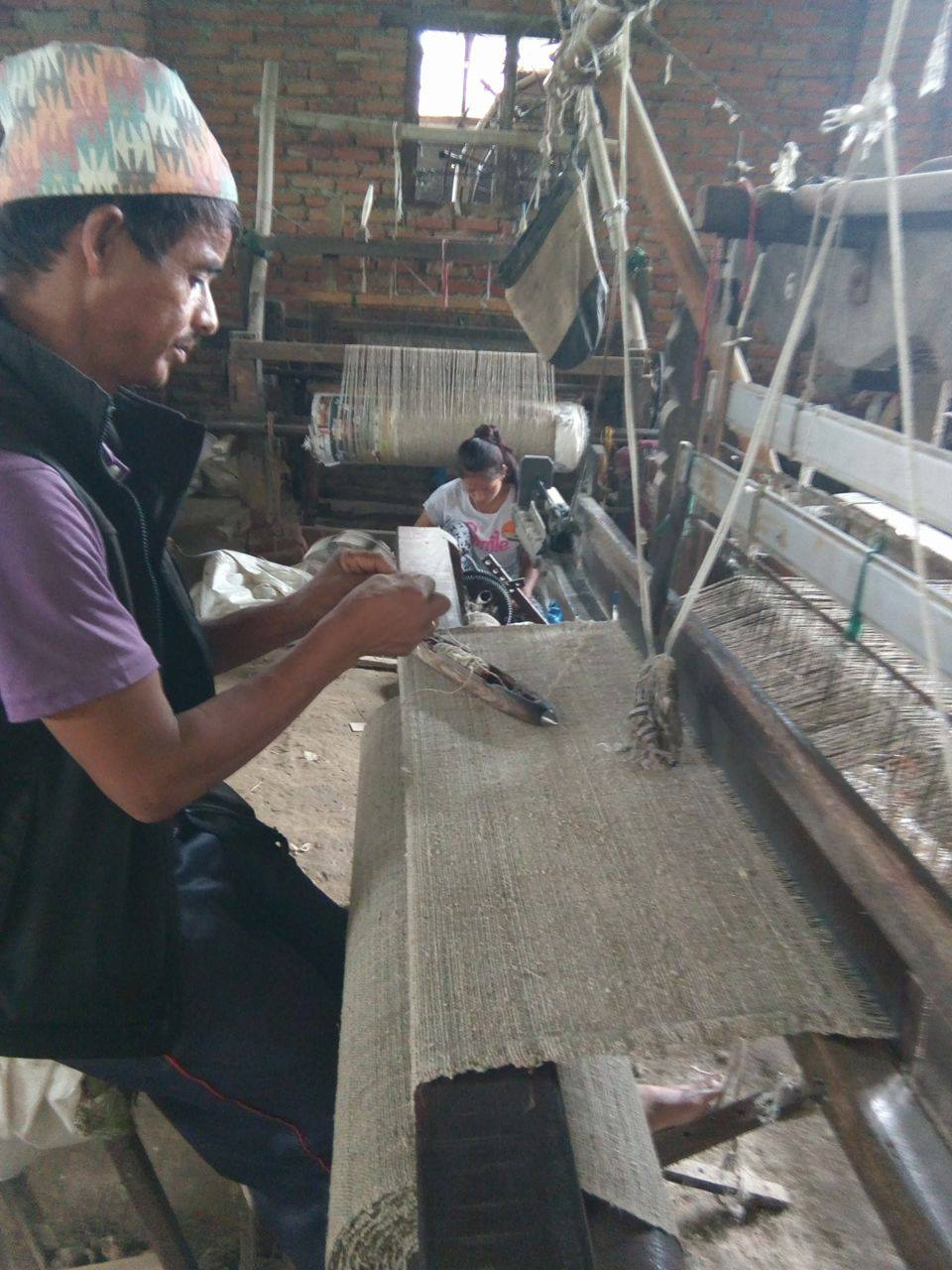 Handgewebte Webstoffe aus Nepal