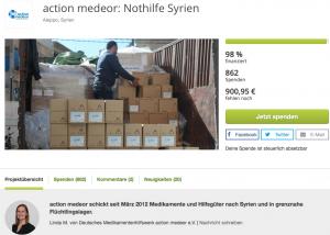 True Fabrics Spendenprojekt in Syrien
