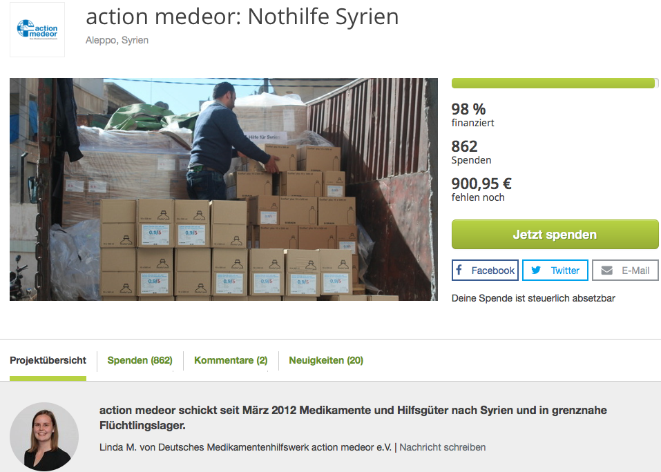 True Fabrics Spendenprojekt in Syrien