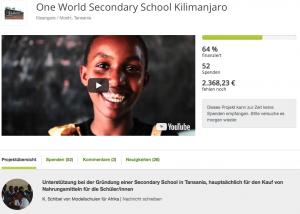 True Fabrics Spendenprojekt in Tansania