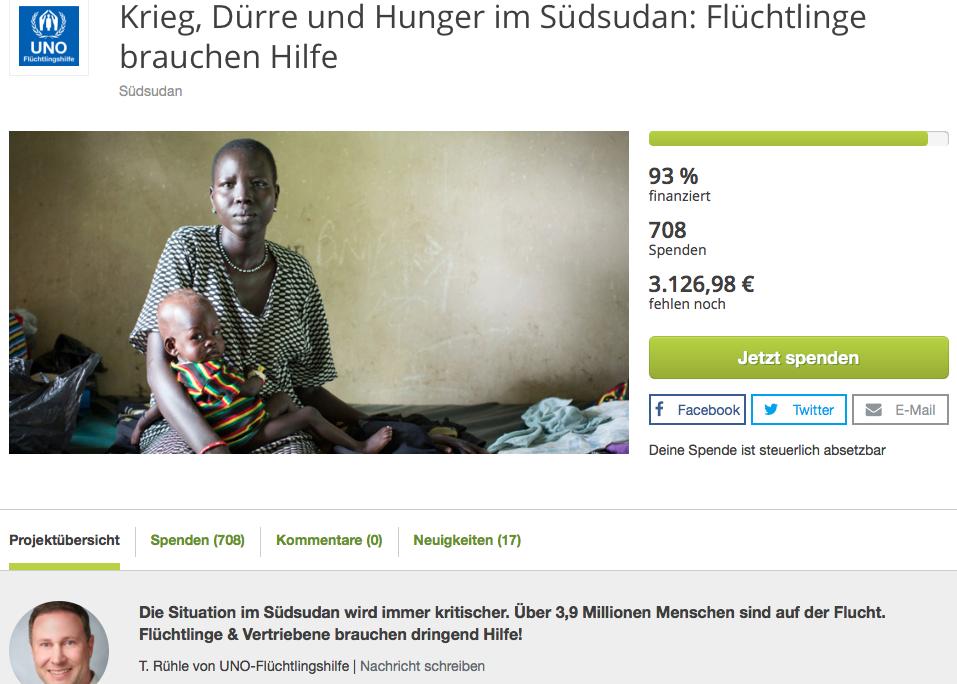 True Fabrics Spendenprojekt im Südsudan