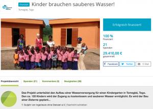 True Fabrics Spendenprojekt in Togo