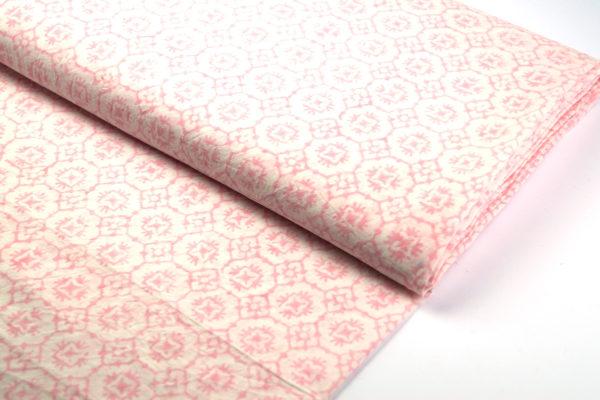 indischer blockprint rosa meterware