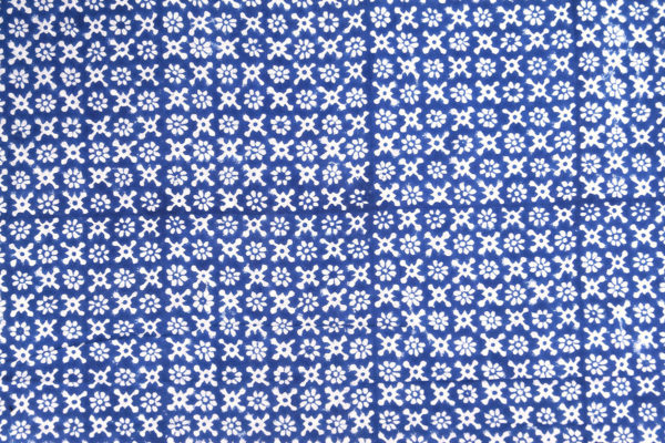 Meterware Baumwollstoff Blumenmuster Indien Blockprint
