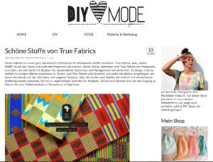 DIY Mode über True Fabrics