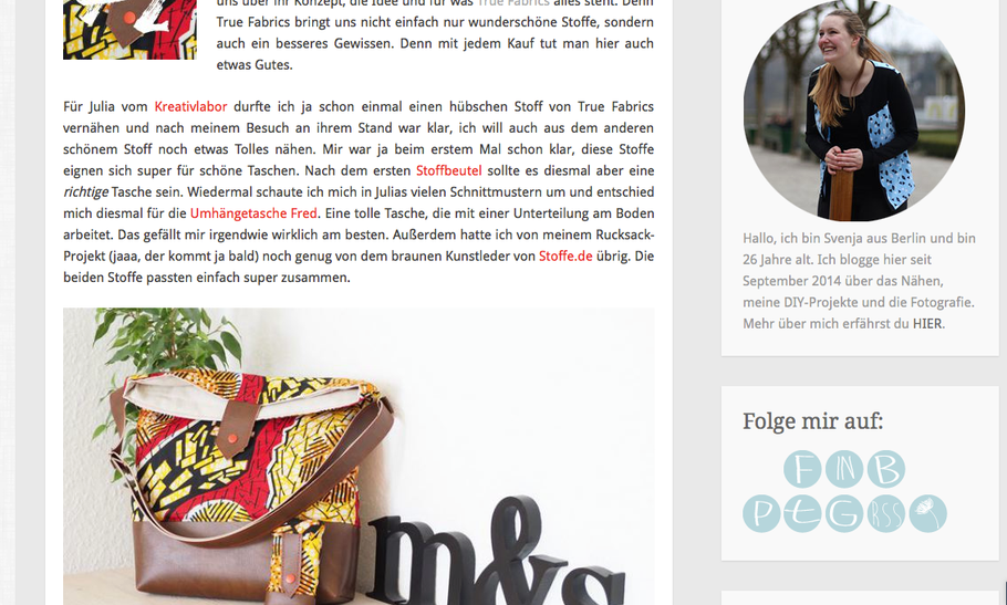 Pusteblog über True Fabrics
