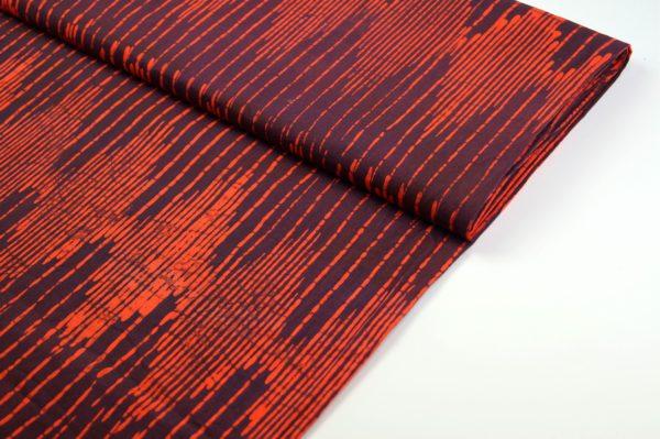 Oranger Batikstoff frontal