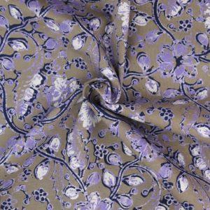 Blauer Batikstoff grün lila 1