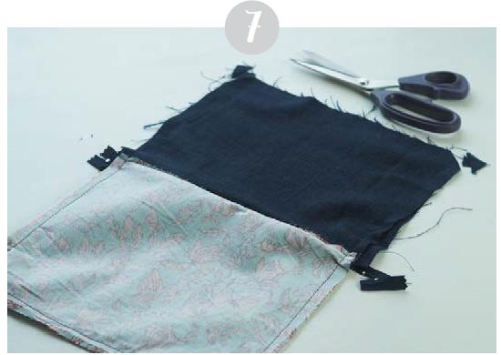 kostenlose Nähanleitung Täschchen Tasche zusammennähen