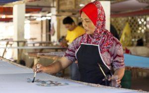 Herstellung Malaysia Batikstoffe