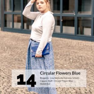 Bloggers 14 Circular Flowers Blue