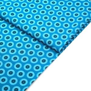 Shweshwe südafrika Baumwollstoff Turquoise Circles
