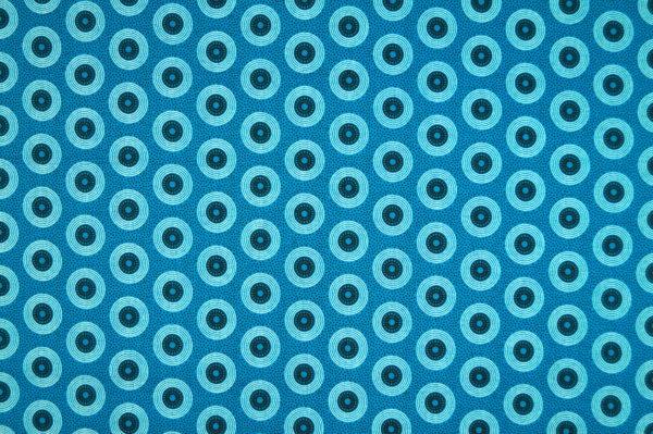 Shweshwe baumwollstoff südafrika turquoise circles