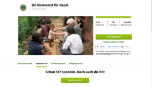 unterstütztes Spendenprojekt durch Stoffverkauf