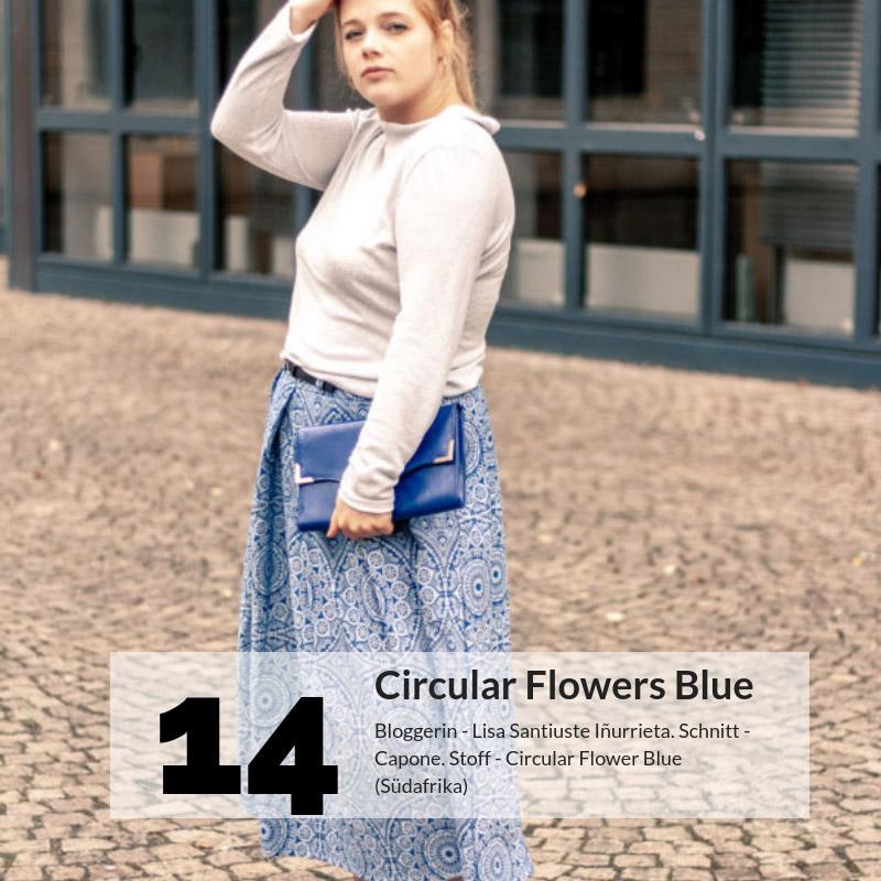 Bloggers Choice - Circular Flowers Blue