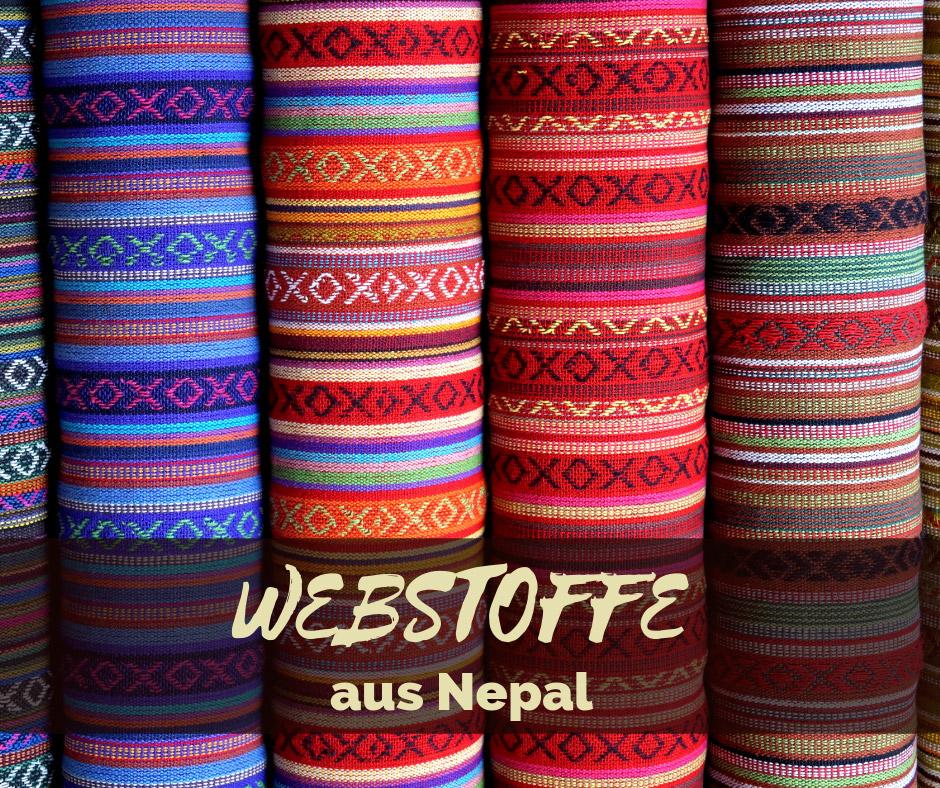 Webstoffe aus Nepal